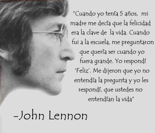 Clave De La Vida John Lennon Huellas Para La Humanidad